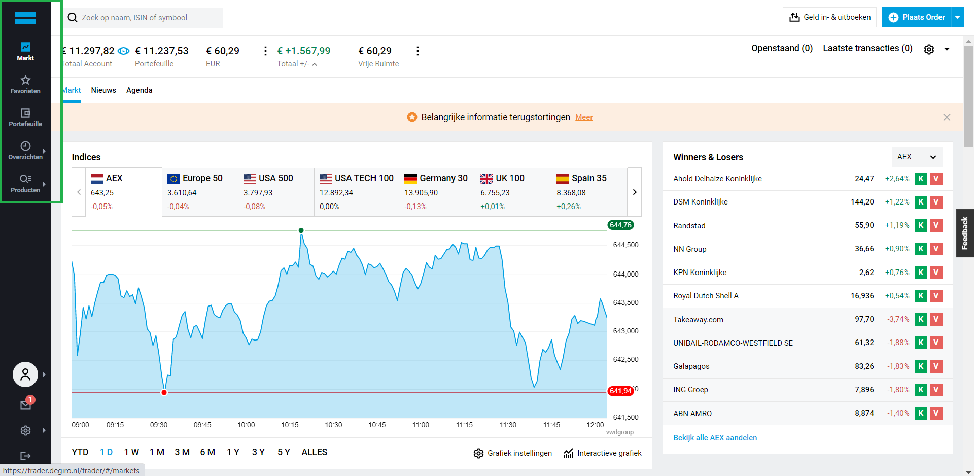 DEGIRO aandelen kopen