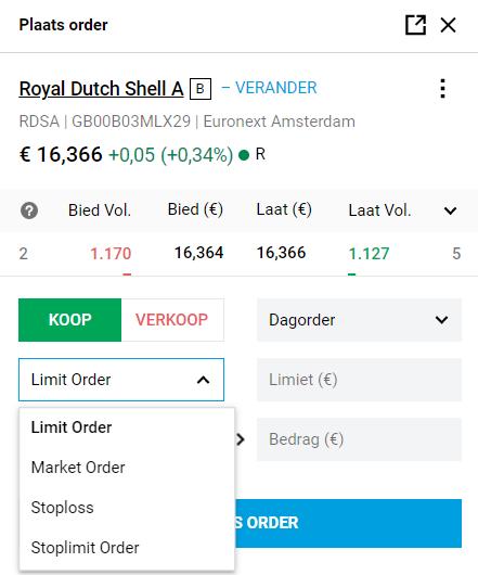 DEGIRO kopen aandelen