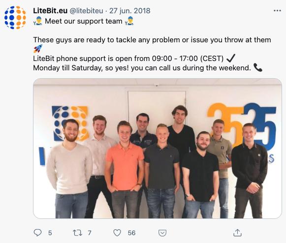 Litebit customer support