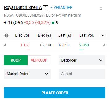 Shell aandeel kopen DEGIRO