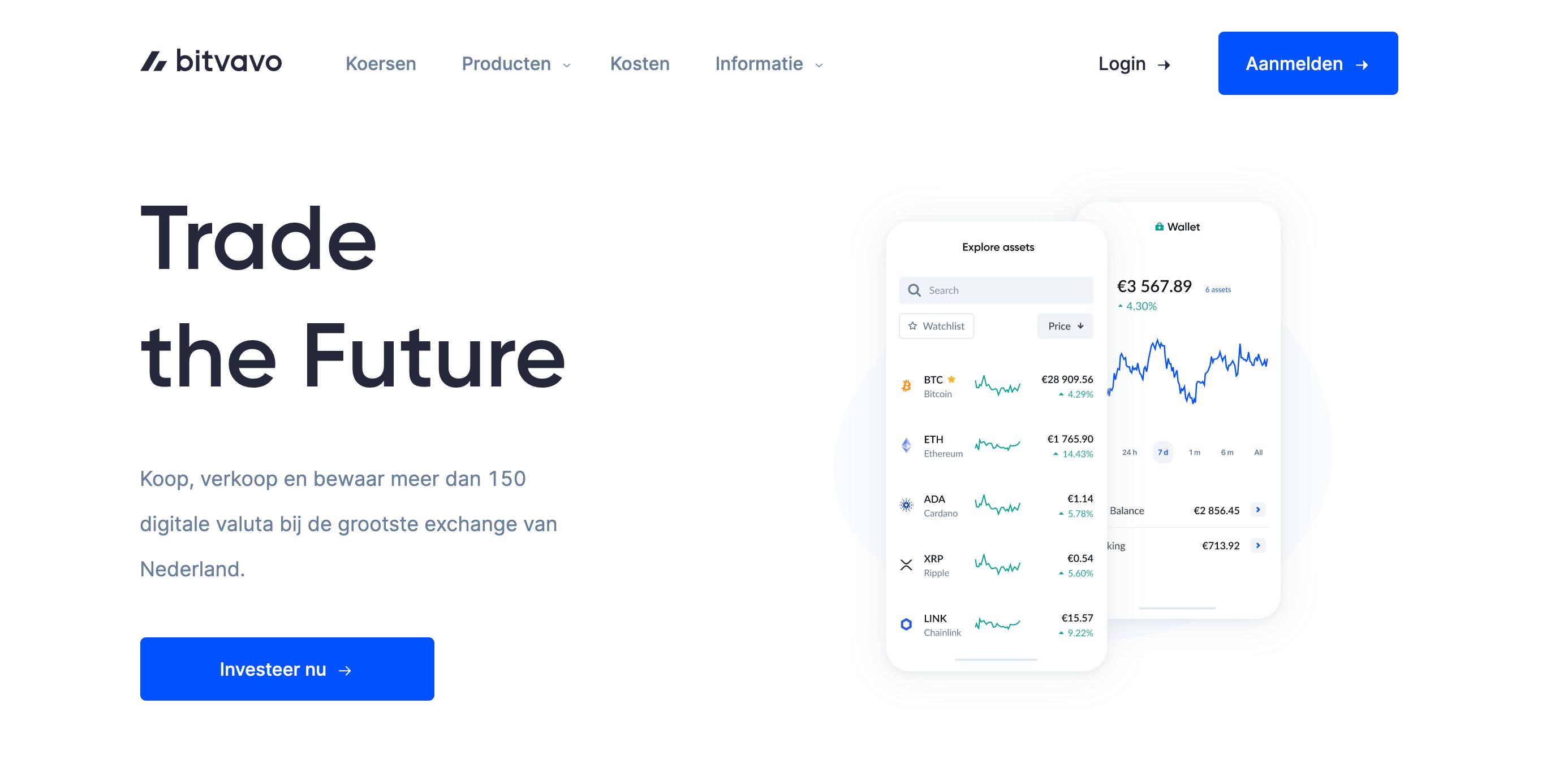 Bitvavo website